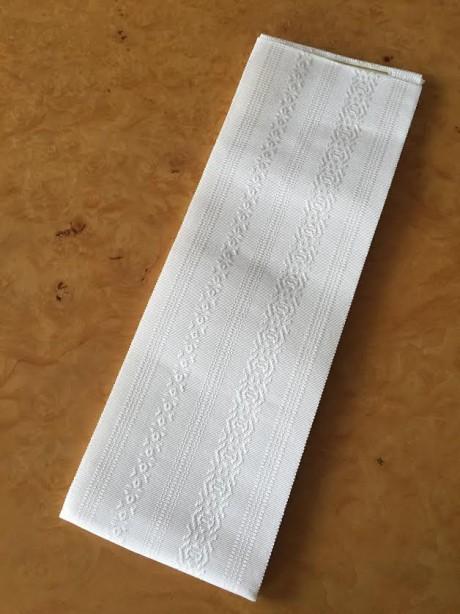 白正絹博多伊達締め