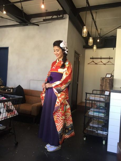 出張着付け:豪華な袴スタイル