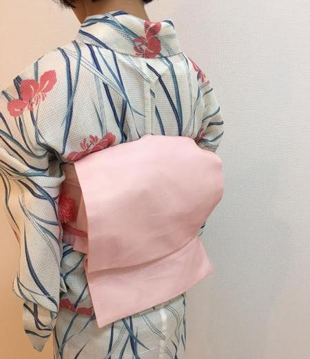 着付け教室:綿紅梅の浴衣