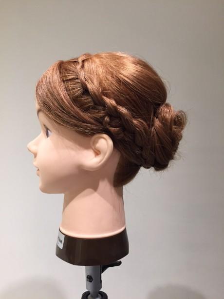 編み込みを使った着物のヘアアレンジ
