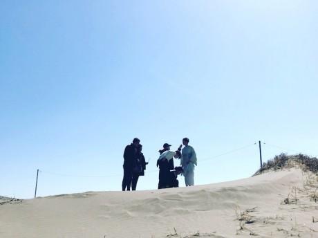 九十九里浜着物撮影