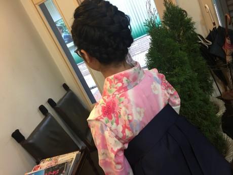 小学校の卒業式袴着付け